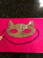 American Eagle Outfitters Gold Sequin Cat Mask, NWT