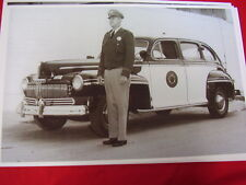 1946 MERCURY CA HIGHWAY PATROL POLICE CAR AN OFFICER   11 X 17  PHOTO   PICTURE