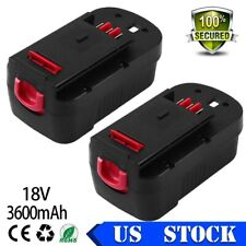 3600mAh 18v For Black&Decker Battery HPB18 HPB18-OPE 244760-00 FS18FL FSB18 2PCS