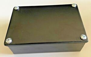 Black Electrical Junction Adaptable Metal Box Boxes 150 x 100 x 50mm + Knockouts