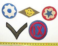 lot de 5 Patchs Originaux US Army WWII ( 132 )