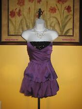 NWT  bebe 2b Wrap Front Sequin Strapless Dress Size L