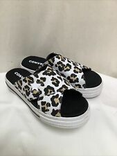 Converse Leopard Print One Star Ox Slip On Sandal UK4.5 EU37 Exc Con