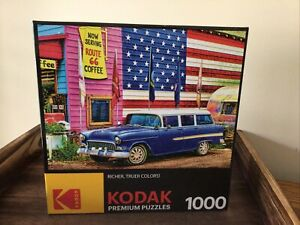 Kodak Premium Puzzles: Route 66 1000PC Puzzle factory seal