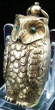 Vintage Brass Novelty Owl Double Sovereign Holder