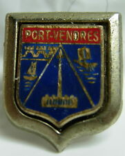 Port Vendres used Hat Lapel Pin Tie Tac HP1192