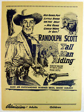 TALL MAN RIDING Randolf Scott Original Herald