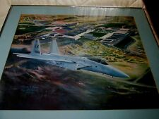 """United States Air Force Academy 1983 Official Class Print """"To Conquer The Air"""""""