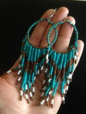 Turquoise Beaded Drop/Dangle Costume Earrings