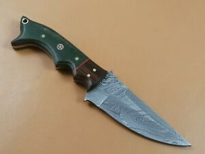 CUSTOM HAND MADE DAMASCUS STEEL HUNTING KNIFE CF-8420