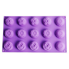 Flower Silicone Soap Mould 15-Cavity Cake Decoration Tools Candy Chocolate Mould
