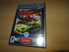 Burnout 2 Point Of Impact - Platinum - New And Sealed ps1 pal version