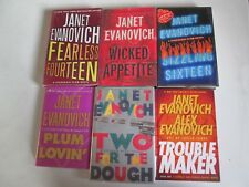 JANET EVANOVICH LOT OF 6 MYSTERY HARDCOVERS Stephanie Plum Barnaby Trouble Maker