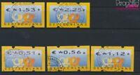 BRD ATM4, Satz 2 komplett (0,51,0,56,1,12,1,53,2,25 Nominale) gestempe (9222363