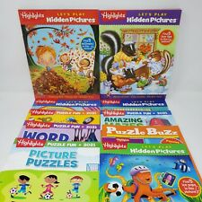 Highlights Magazines Lot of 10 and 2 Bags (Hidden Pics, Puzzle Fun, 2021)