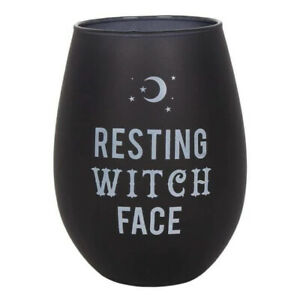Pagan/Wiccan Resting Witch Face Stemless Wineglass