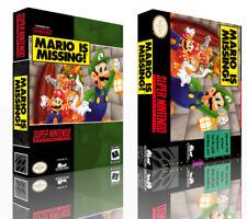 Mario falta caso juego de reemplazo de SNES CAJA CUBIERTA + obras de arte (sin Juego)