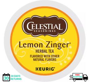 Celestial Seasonings lemon zinger herbal Tea Keurig Tea K-cups YOU PICK THE SIZE