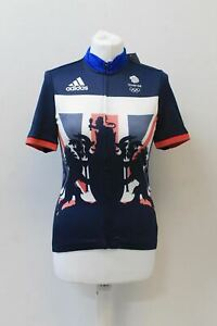 ADIDAS Ladies AP7899 Team GB Blue Climachill Short Sleeve Cycling Jersey S BNWT
