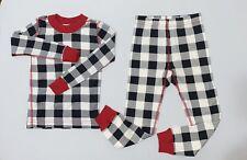 Hanna Andersson Buffalo Plaid Long John Pajamas 100% Organic Cotton Size 4T