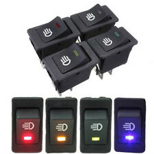LED On/Off Indicator Rocker Toggle Switch Driving Fog Lamp/Work Light Bar Decor