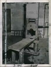 1951 Press Photo Antique guillotine - pix31409