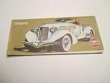 Vintage GULF ONTARIO CANADA Gas Service Station Road Map~Auburn 852 Speedster