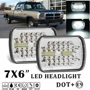 Pair 7x6'' 5X7'' LED Headlight For Jeep Wrangler YJ Cherokee XJ GMC Savana