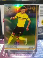 2018-19 Topps Chrome UEFA CL Jadon Sancho REFRACTOR SP RC #85 ROOKIE CARD BVB