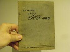 Isocarro 400 bresso truck owner workshop manual service -vintage car microcar