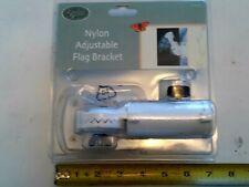 "7/8"" 1"" 1 1/8"" Adjustable Flag Pole Holder Wall Mounted Bracket Outdoor"