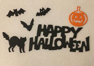 36 die cuts - happy halloween, Bats, pumpkins & Cats 6 Sets Of 1st Pic