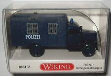 WIKING 086435 OPEL Blitz Gefangenentransporter Polizei 1 87