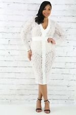 2X Women's Plus Size Ivory Lace Bodycon Dress
