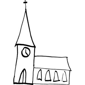 'Church' Unmounted Rubber Stamp (RS007876)