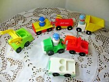 Vintage Fisher Price Little People Airport Luggage Cars Fuel Transport Dumpster