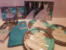 Bridal Shower Party Supplies~(4)Napkins,(2)Pl ates,(1)Invitatations,1 Table Cover