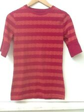 c3857d1d15568 Mossimo Supply Co. Girl s Burgundy Orange Print Casual Tee Shirt Top Size M