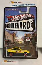 '85 Honda CR-X * Yellow * Hot Wheels Boulevard Series w/ Real Riders * N135
