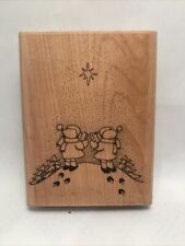 "New Listing""Caroling"" Rubber Stamp 886-J By Embossing Arts Large Holiday Snow 3""x4"""
