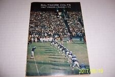 1967 BALTIMORE COLTS Yearbook MEDIA GUIDE 96 Pages JOHNNY UNITAS Raymond BERRY