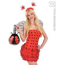 Ladies Red & Black Stripe Ladybird Ladybug Handbag Fancy Dress Accessory Bag