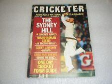 Vintage January 1986 CRICKETER Australia's national cricket magazine