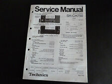 Original Service Manual Technics  Sound Processor SH-CH750