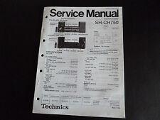 Original Service Manual Technics  Sound Processor SH-CH750
