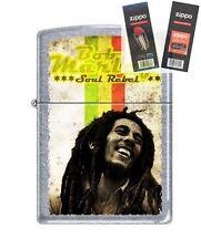 Zippo 4810 Bob Marley-Soul Rebel Lighter with *FLINT & WICK GIFT SET*
