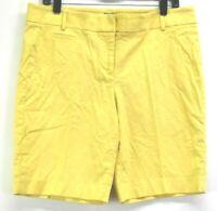 Ann Taylor LOFT Women Size 10 Marisa Summer Bermuda Chino Khaki Shorts Yellow
