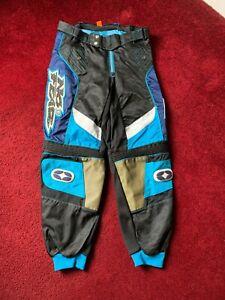 2000 No Fear MX Elektron Pants Size 36 - Blue/Black