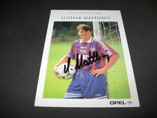 Lothar Matthäus alte FC Bayern München #1 Autogrammkarte ORIGINAL