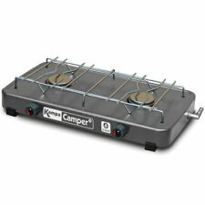 Kampa Double Burner Gas Camping Cooker Camp Stove